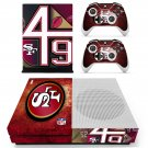 San Francisco 49ers decal skin sticker for Xbox One S console and controllers