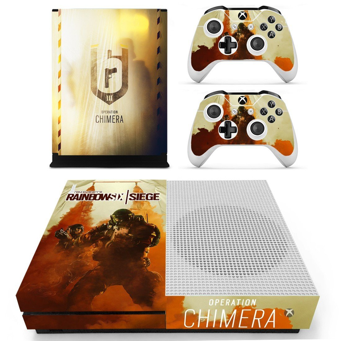 Tom Clancy's Rainbow Six Siege decal skin sticker for Xbox One S console and controllers