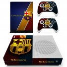 FC Barcelona decal skin sticker for Xbox One S console and controllers