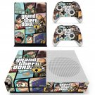 Grand theft auto zero decal skin sticker for Xbox One S console and controllers