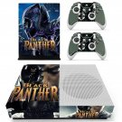 Black Panther decal skin sticker for Xbox One S console and controllers