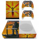 Dark Souls decal skin sticker for Xbox One S console and controllers