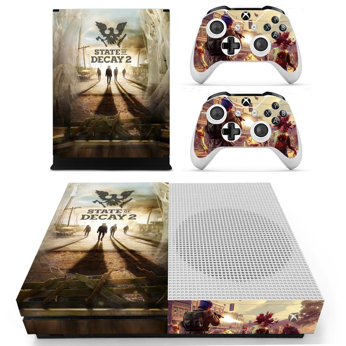 State of Decay 2 decal skin sticker for Xbox One S console and controllers
