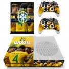 Brazilian Football Confederation decal skin sticker for Xbox One S console and controllers