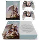 Winged Lion decal skin sticker for Xbox One S console and controllers