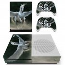 Pegasus horse  decal skin sticker for Xbox One S console and controllers