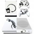 Cat stretching decal skin sticker for Xbox One S console and controllers