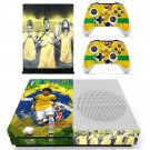 2018 FIFA World Cup CBF Neymar decal skin sticker for Xbox One S console and controllers