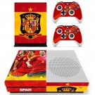 Spain national football team decal skin sticker for Xbox One S console and controllers