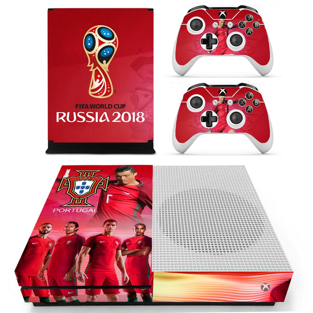 2018 FIFA World Cup Portugal decal skin sticker for Xbox One S console and controllers