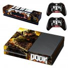 Doom 4 decal skin sticker for Xbox One console and controllers
