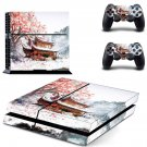 Chinese house decal skin sticker for PS4 console and controllers