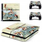 Fish Wallpaper decal skin sticker for PS4 console and controllers
