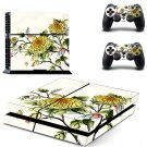 Flower Wallpaper decal skin sticker for PS4 console and controllers