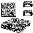 Floral Wallpaper decal skin sticker for PS4 console and controllers