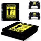 Danger Icon decal skin sticker for PS4 console and controllers