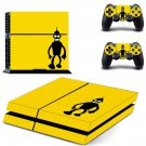 Futurama bender decal skin sticker for PS4 console and controllers