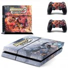 Warriors Orochi 3 decal skin sticker for PS4 console and controllers