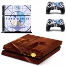 Fallout 76 decal skin sticker for PS4 console and controllers