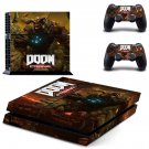 Doom Eternal decal skin sticker for PS4 console and controllers