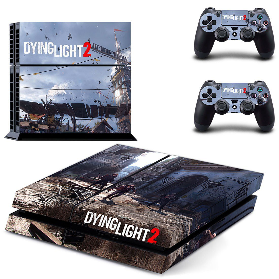 Dying Light 2 decal skin sticker for PS4 console and controllers