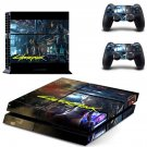Cyberpunk 2077 decal skin sticker for PS4 console and controllers