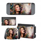 Lady Wallpaper decal skin sticker for Nintendo Switch console and controllers