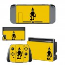 Futurama bender decal skin sticker for Nintendo Switch console and controllers