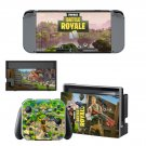 Fortnite battle royale decal skin sticker for Nintendo Switch console and controllers