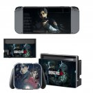 Resident Evil 2 remake decal skin sticker for Nintendo Switch console and controllers