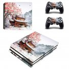 Chinese house decal skin sticker for PS4 Pro console and controllers