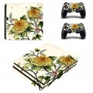 Flower Wallpaper decal skin sticker for PS4 Pro console and controllers