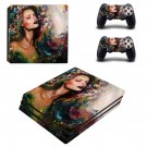 Lady Wallpaper decal skin sticker for PS4 Pro console and controllers