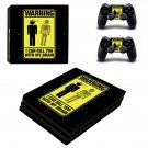 Danger Icon decal skin sticker for PS4 Pro console and controllers