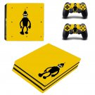 Futurama bender decal skin sticker for PS4 Pro console and controllers