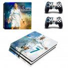 Cristiano Ronaldo decal skin sticker for PS4 Pro console and controllers
