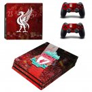 Liverpool FC decal skin sticker for PS4 Pro console and controllers