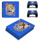 Golden State Warriors decal skin sticker for PS4 Pro console and controllers