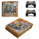Valkyria Chronicles 4 decal skin sticker for PS4 Pro console and controllers