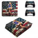American Girl decal skin sticker for PS4 Pro console and controllers