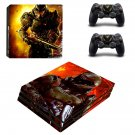 Doom 4 decal skin sticker for PS4 Pro console and controllers