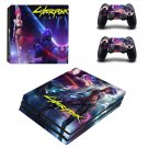 Cyberpunk 2077 decal skin sticker for PS4 Pro console and controllers