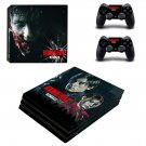 Resident Evil 2 remake decal skin sticker for PS4 Pro console and controllers
