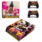 Rage 2 decal skin sticker for PS4 Pro console and controllers