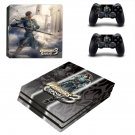 Warriors Orochi 3 decal skin sticker for PS4 Pro console and controllers