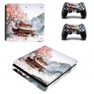 Chinese House decal skin sticker for PS4 Slim console and controllers