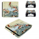 Fish Wallpaper decal skin sticker for PS4 Slim console and controllers