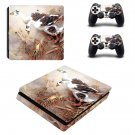 Swan Wallpaper decal skin sticker for PS4 Slim console and controllers