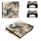 Hill Wallpaper decal skin sticker for PS4 Slim console and controllers