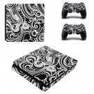 Floral Wallpaper decal skin sticker for PS4 Slim console and controllers